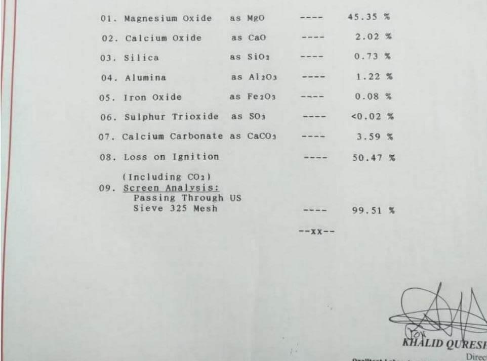 Magnesite-Powder-Test-Report-NVJ-Industries